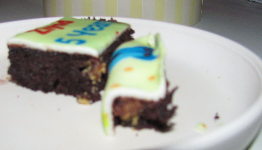 cake with chocolate filling
