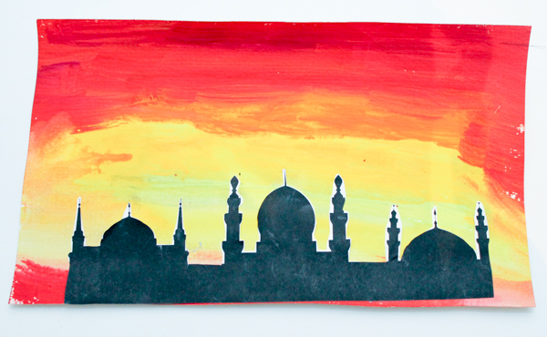 watercolour mosque pictures
