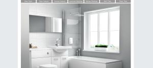 basic white utopia bathroom fitted clean bathroom