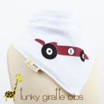 race car bib funky giraffe