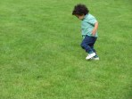 toddler in the countryside