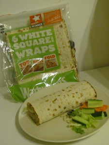 warburtons wrap made into tex mex sandwich