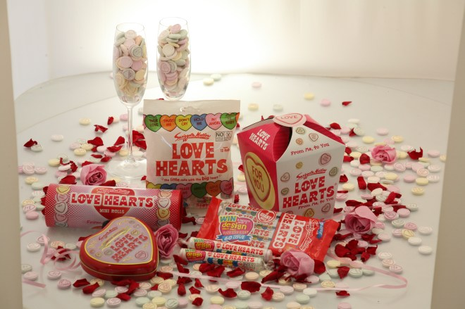 love hearts valentines day sweets