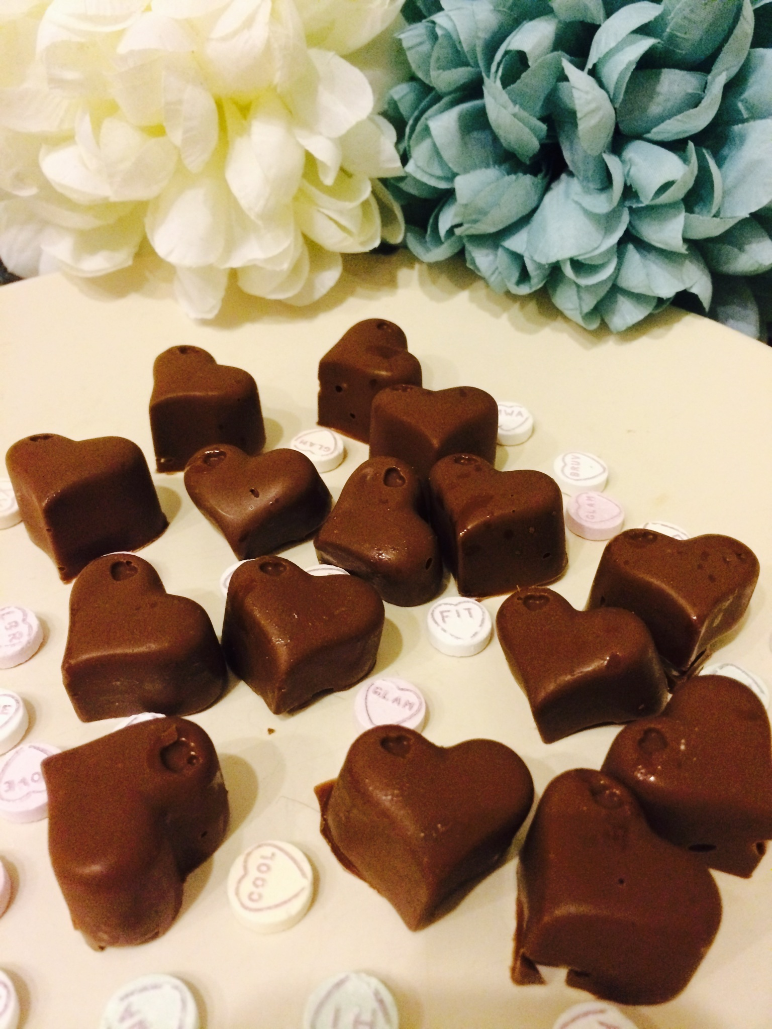valentines treats making chocolate in a mould