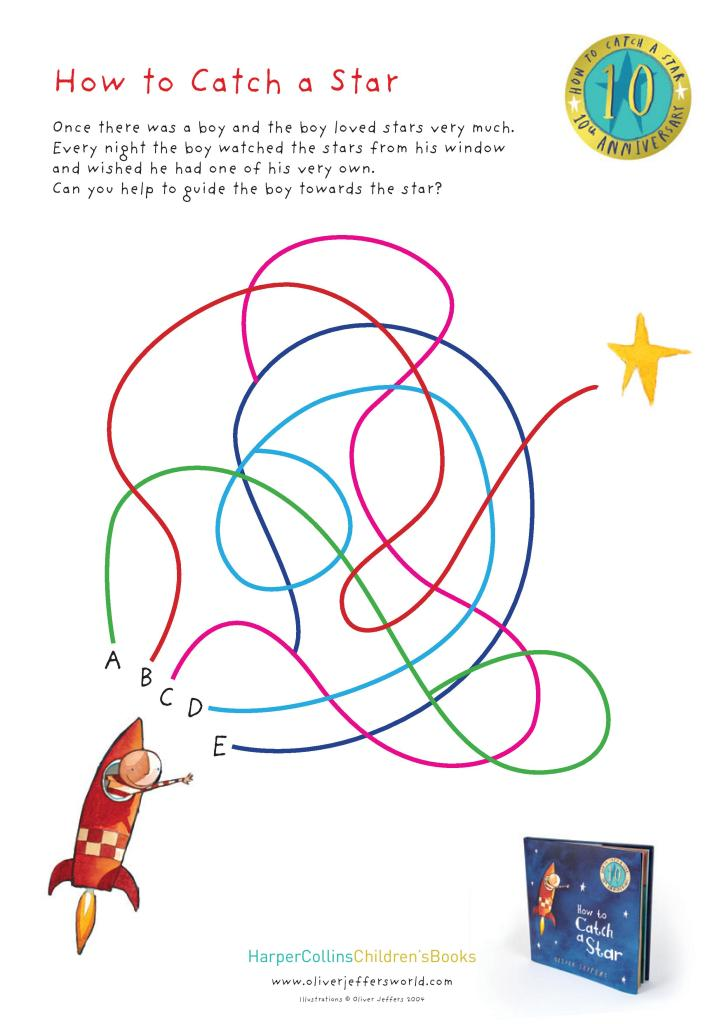 how to catch a star maze printable activity sheet