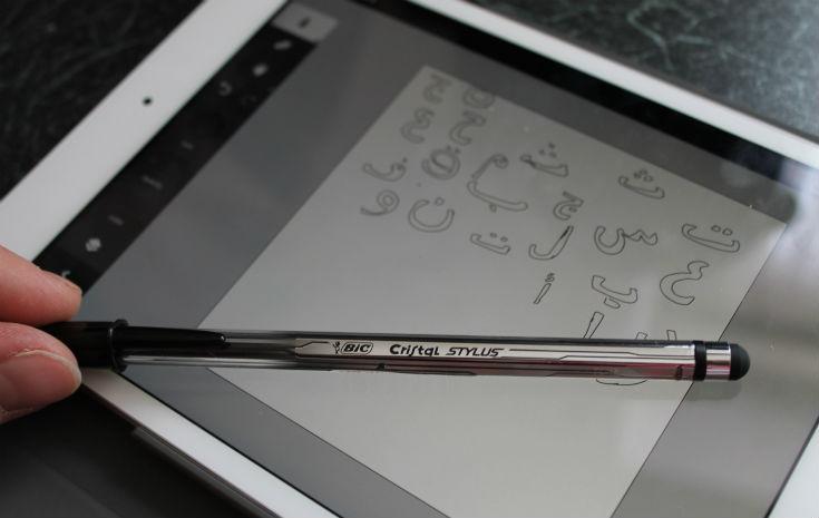 bic cristal stylus and adobe ideas on ipad mini