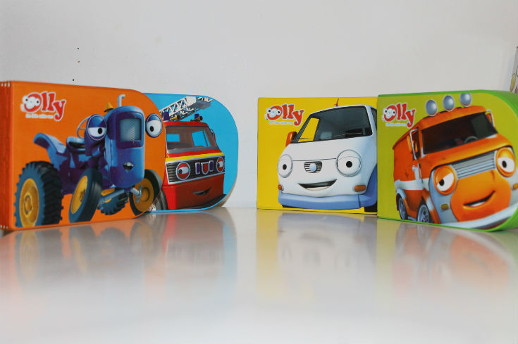 olly the little white van books - board books