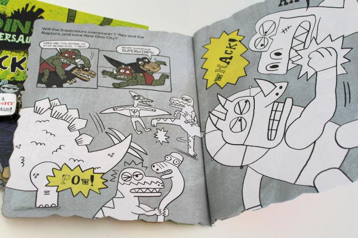 dino supersaurus colouring book