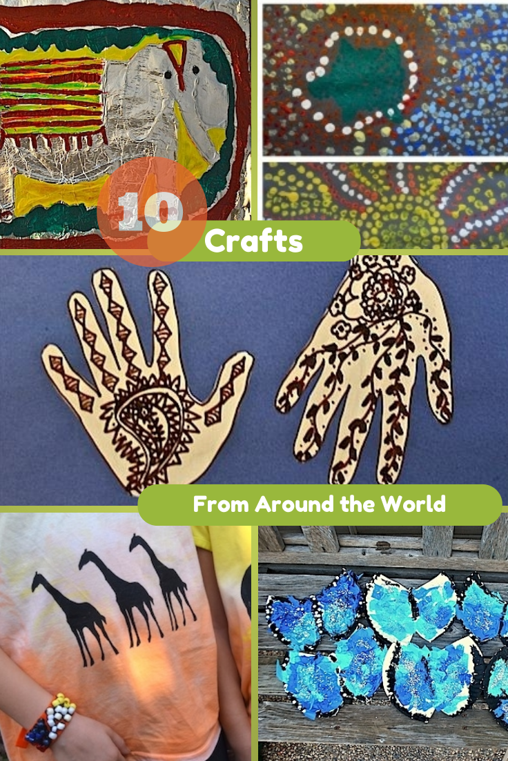 10 crafts from around the world in the playroom - Different craft ideas for kids ...