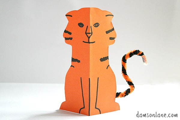Paper tiger from The Tiger who Came to Tea - Damson Lane