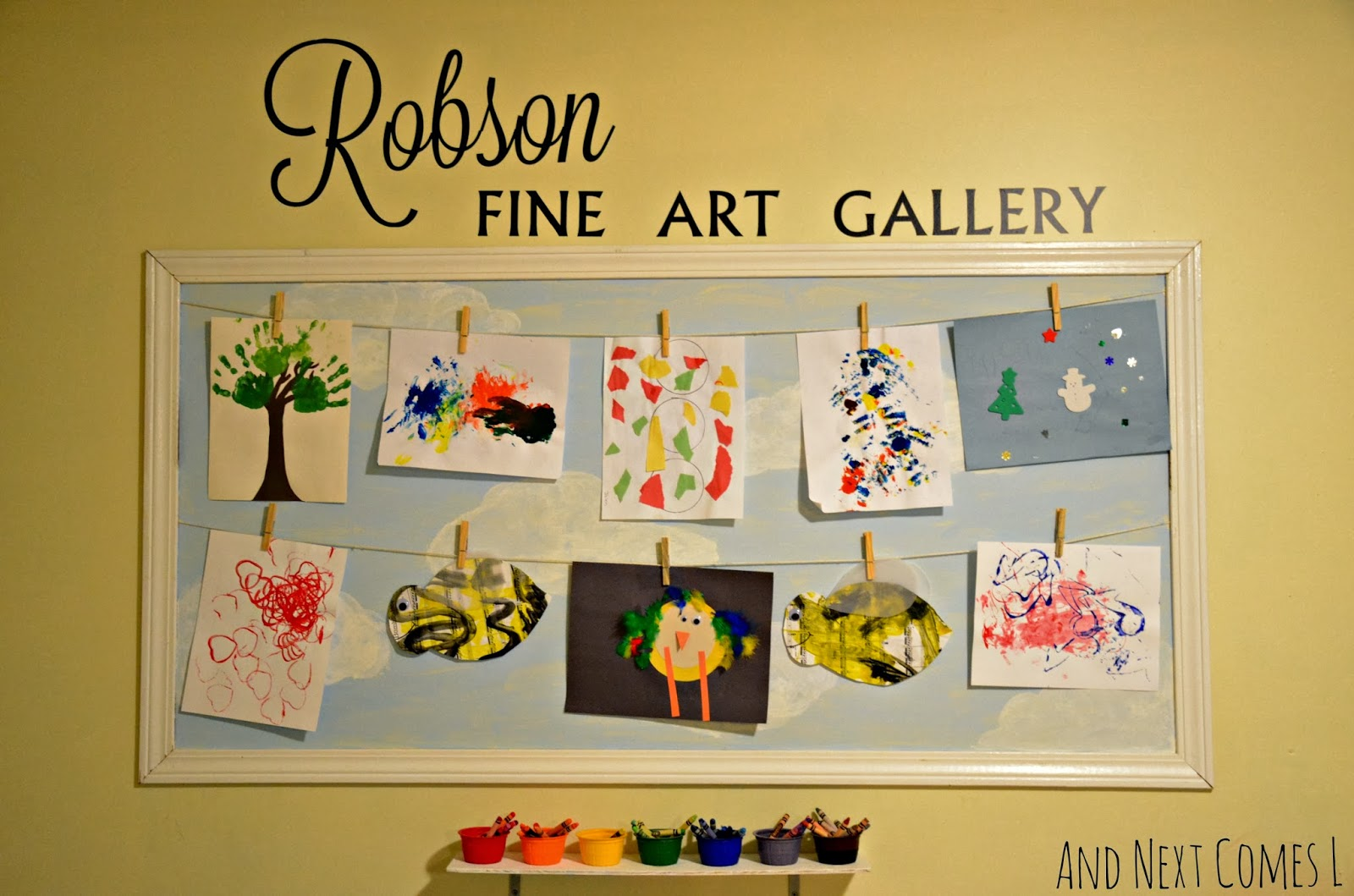 displaying art in a playroom