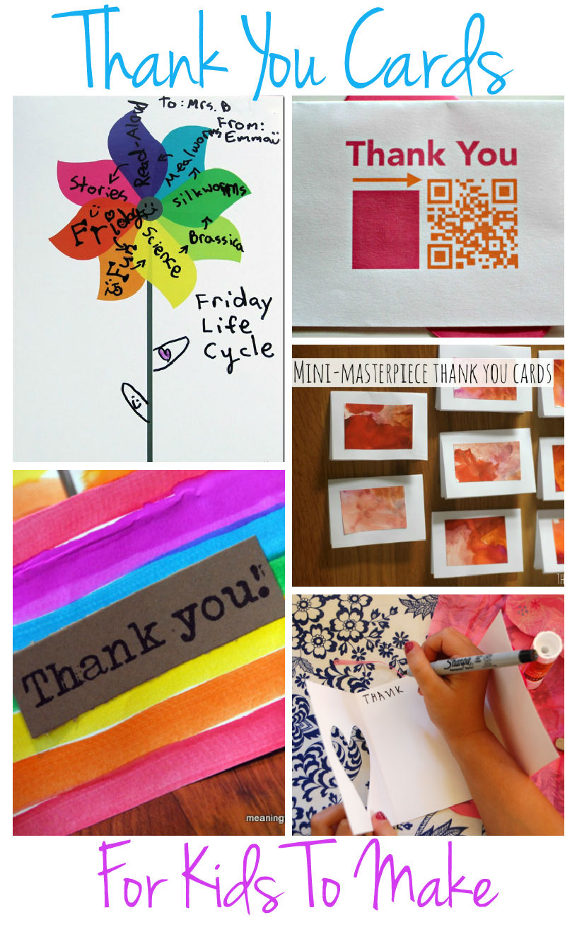 beautiful home made thank you cards that kids can make