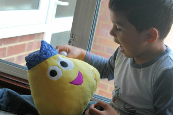 CBeebies Sweet Dreams with Squidge toy with boy