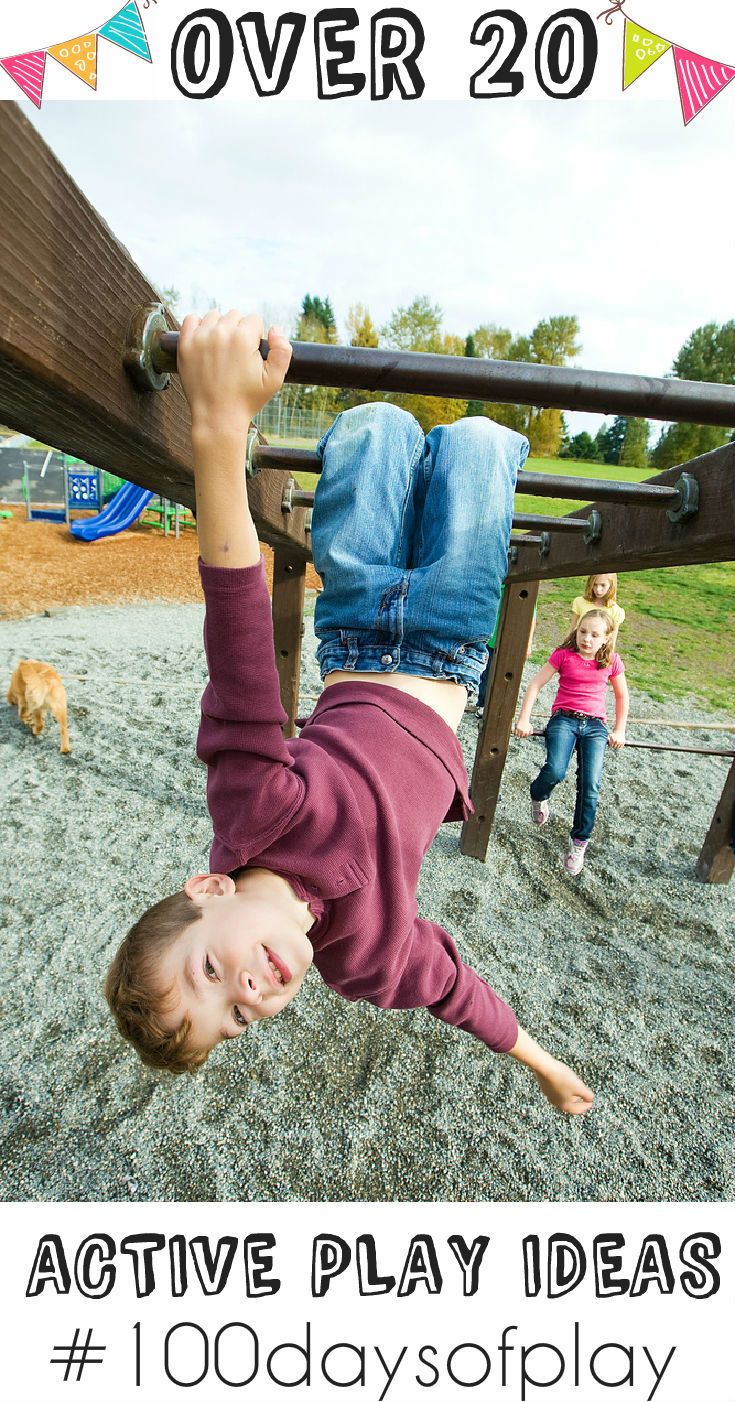 Over 20 active play ideas to help develop gross motor skills #100daysofplay