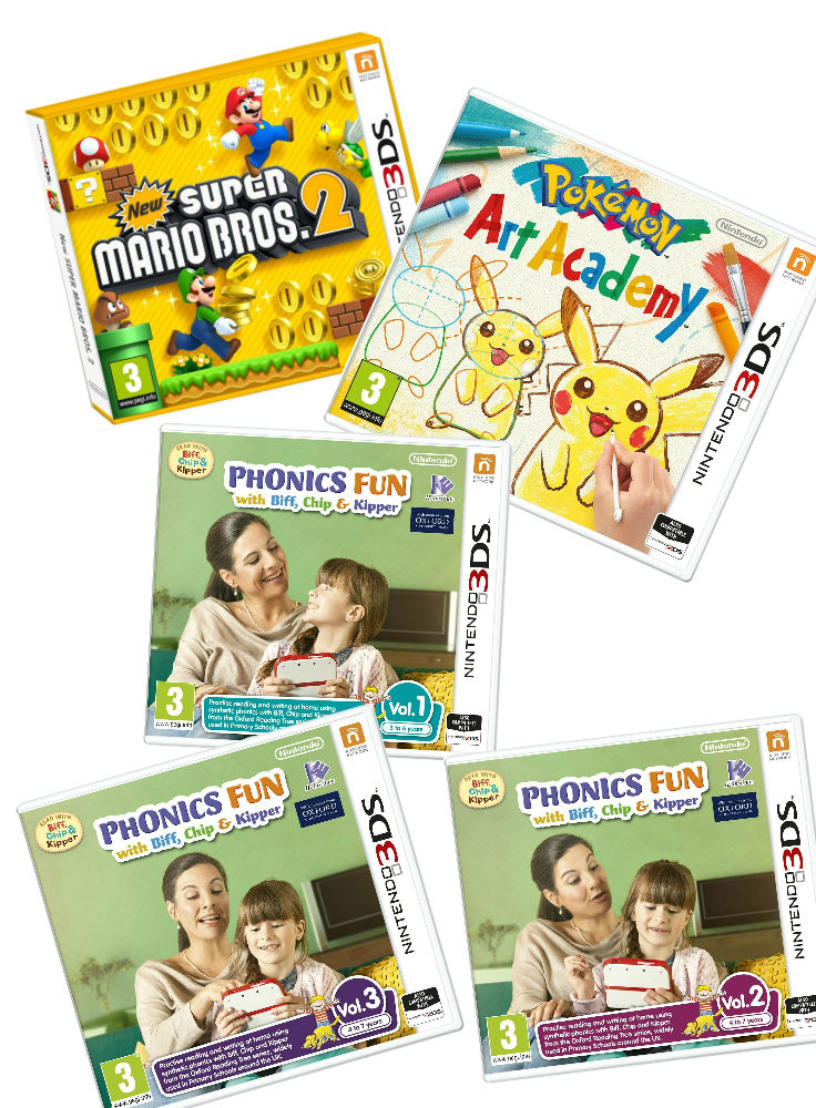 Great games for kids 3-6+ on Nintendo 2ds
