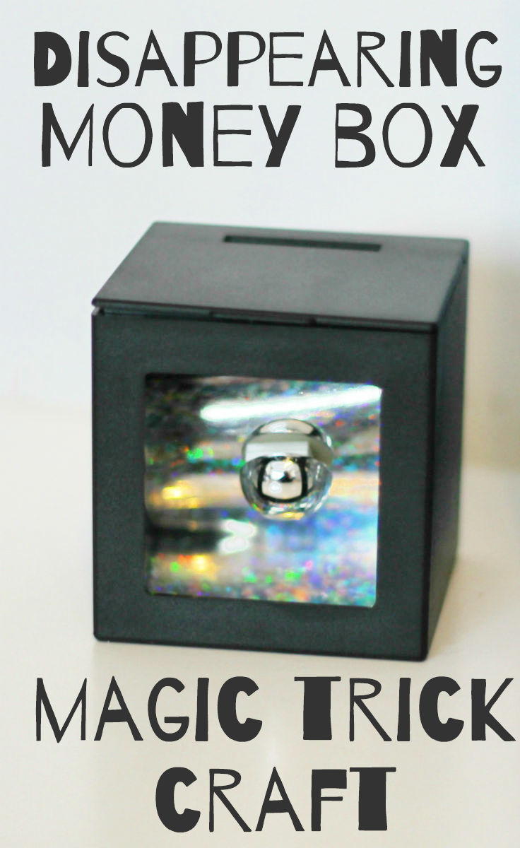 Disappearing money box magic trick science craft