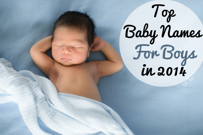 London top baby names for boys 2014