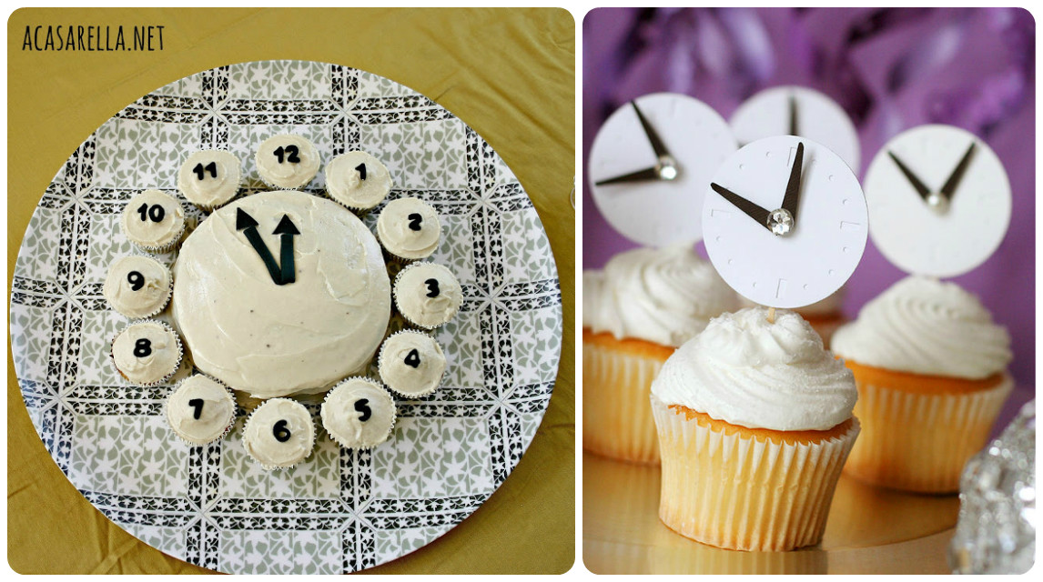 Clock cakes for new years eve party