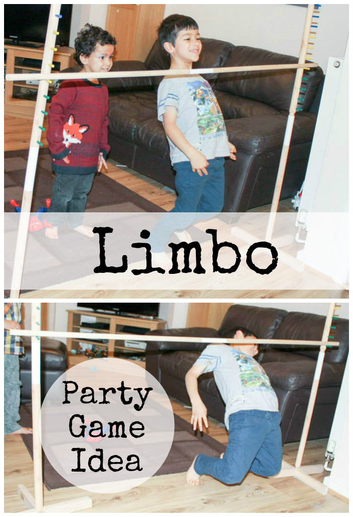 party game ideas : Limbo is a great way for kids to burn off their energy indoors during the winter