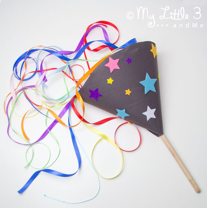 Pop up firework new years eve craft for kids from My Little 3 and Me