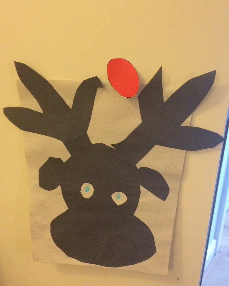 rudolph's nose in the wrong place