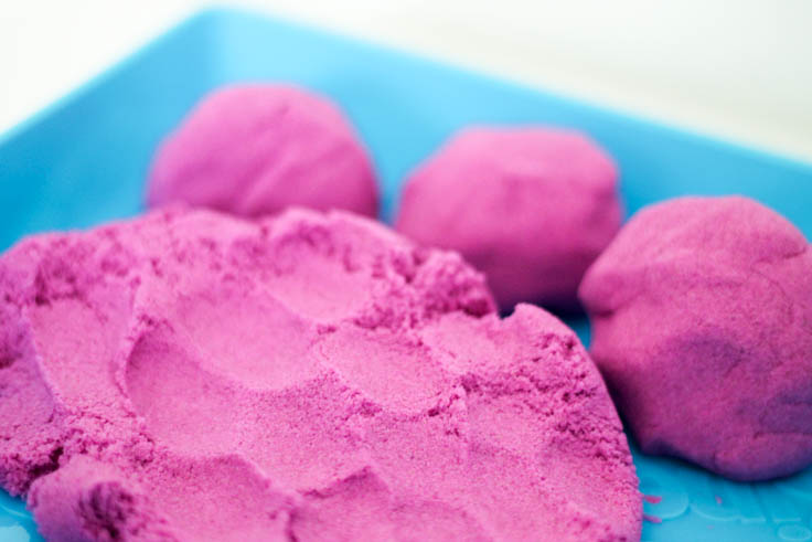 what is kinetic sand close up view