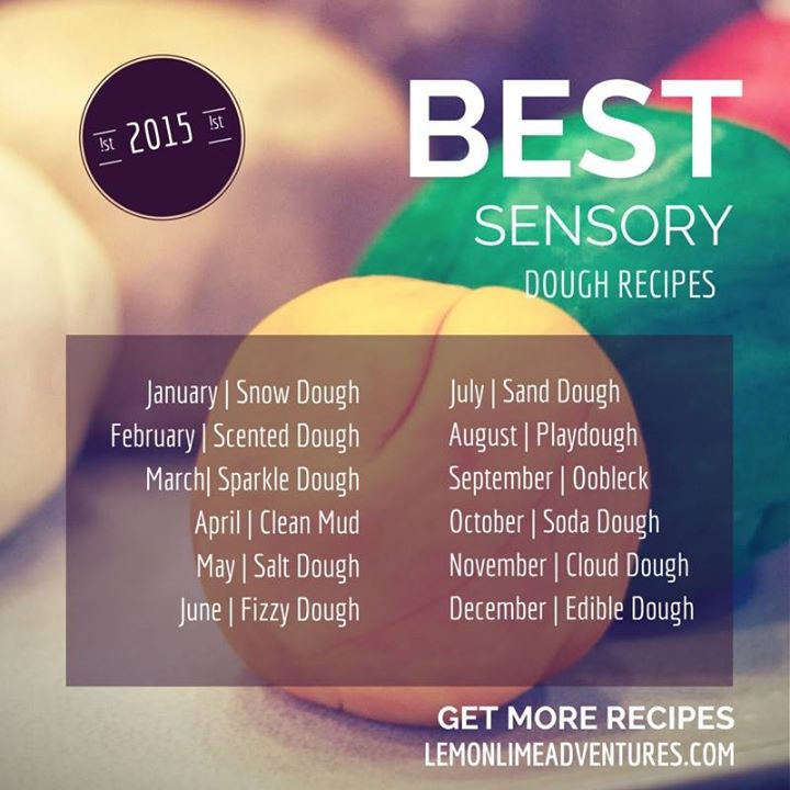 12 months of sensory dough
