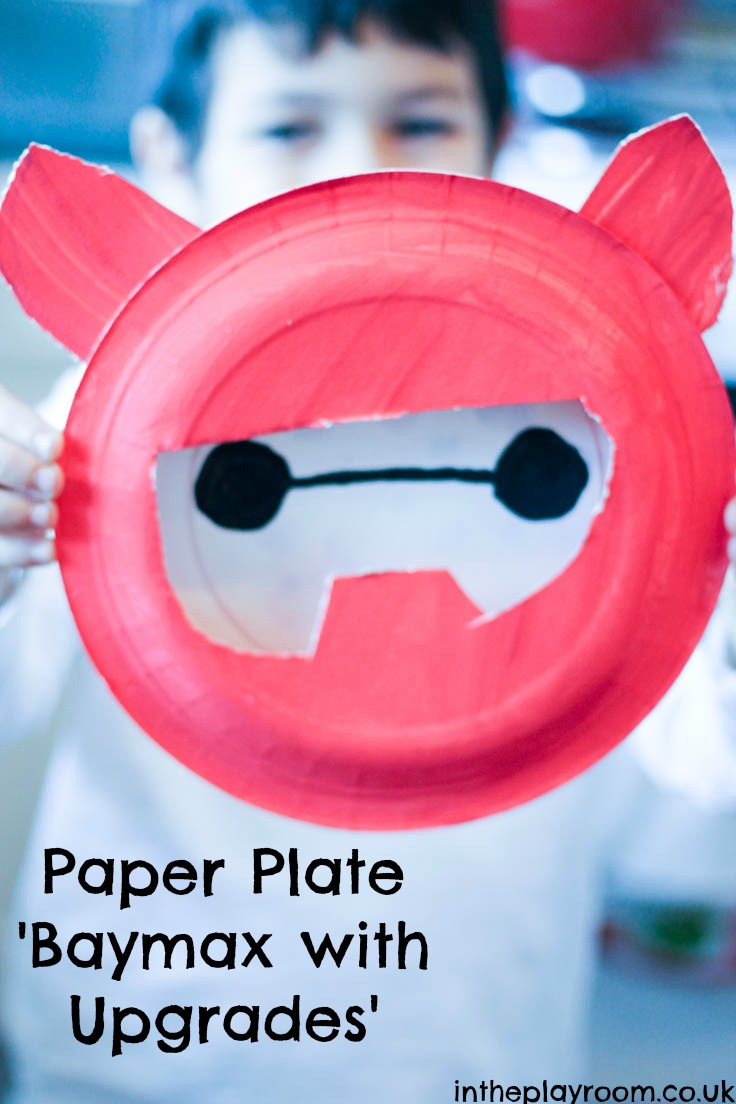 Big Hero 6 Baymax paper plate craft