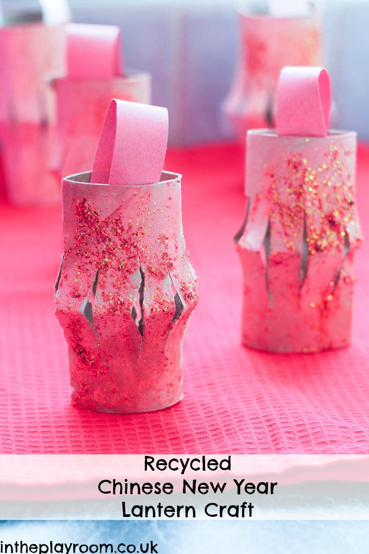 Recycled TP Roll Chinese Lanterns For New Year