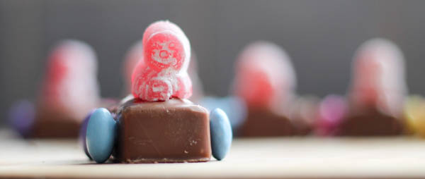 jelly baby driver for chocolate car treats