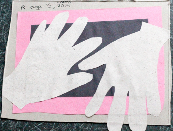 interlocking kids handprint keepsake