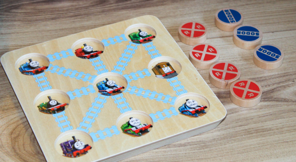 thomas and friends new wooden tic tac toe game