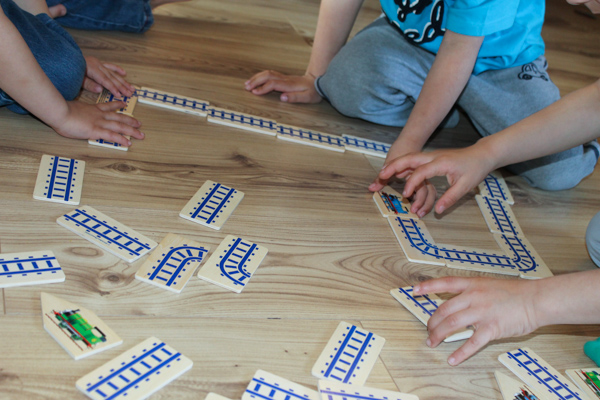thomas and friends wooden track puzzle