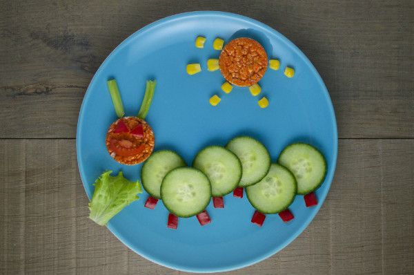 caterpillar veggie snack for toddlers