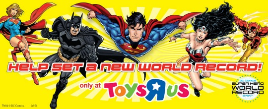 Toys R Us super hero world record attempt 18th april