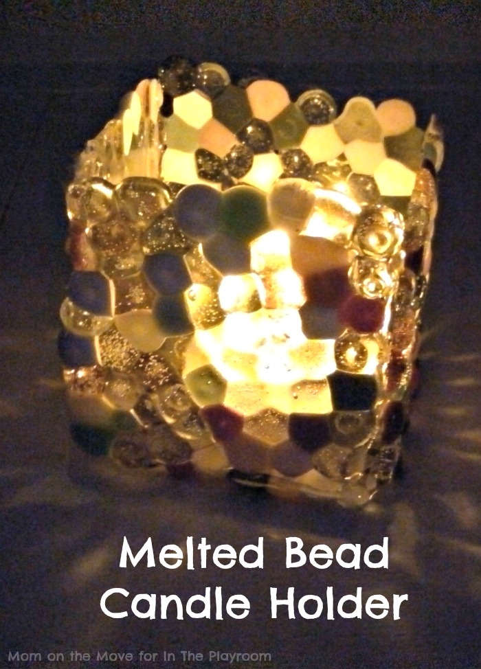 How to make a melted bead candle holder