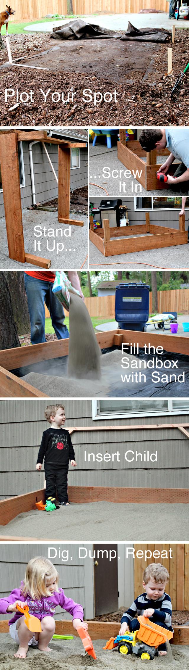 build a diy sand pit