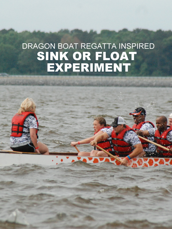 Dragon Boat Regatta Inspired Sink or Float Experiment