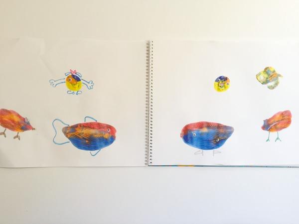 splat painting creatures doodling