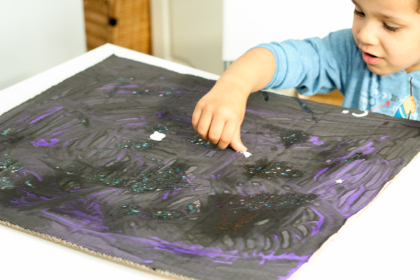 making a space starry night sky picture