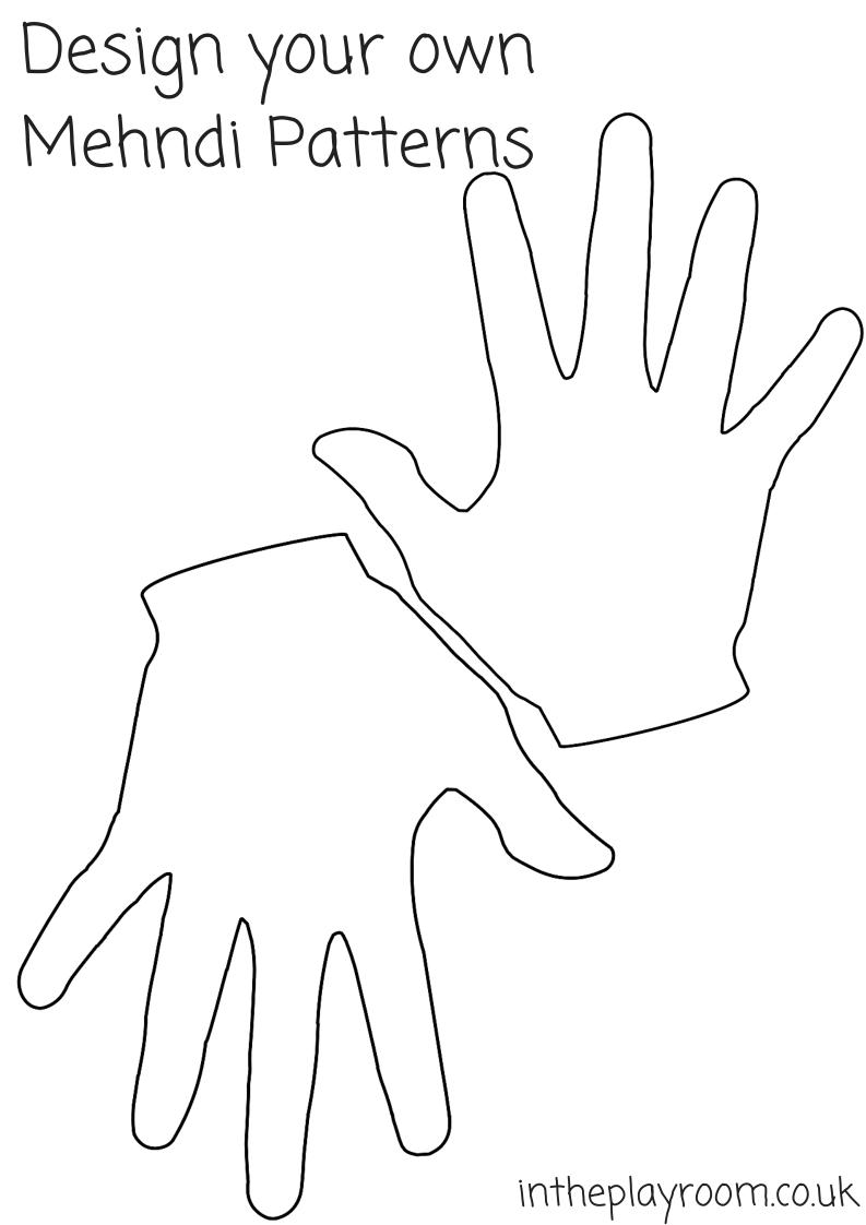 design your own mehndi patterns hand print printable