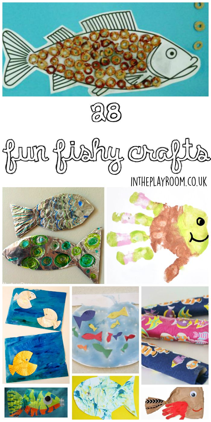 Fun and creative fish crafts for kids. I love these ideas for an under the sea theme! Handprint fish, cupcake liner fish, cheerios fish and loads more!