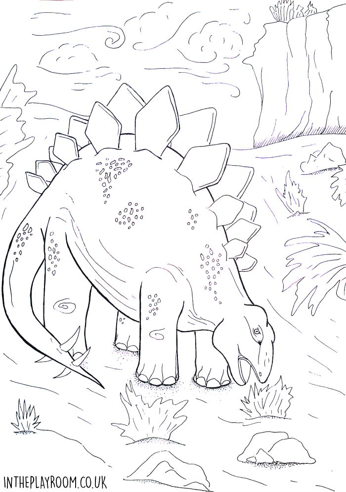 Coloring Pages Dinosaurs Pdf : Dinosaur colouring pages in the playroom
