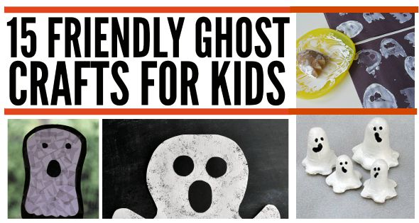 15 Friendly ghost crafts for kids at Halloween
