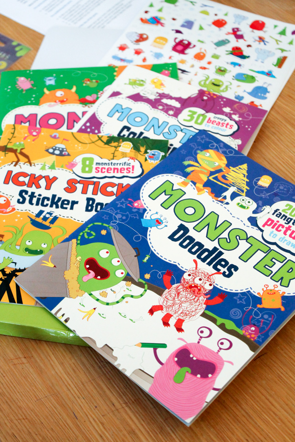 monster activity pack from parragon