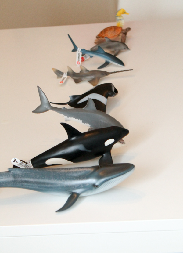 schleich ocean animals ordered by size