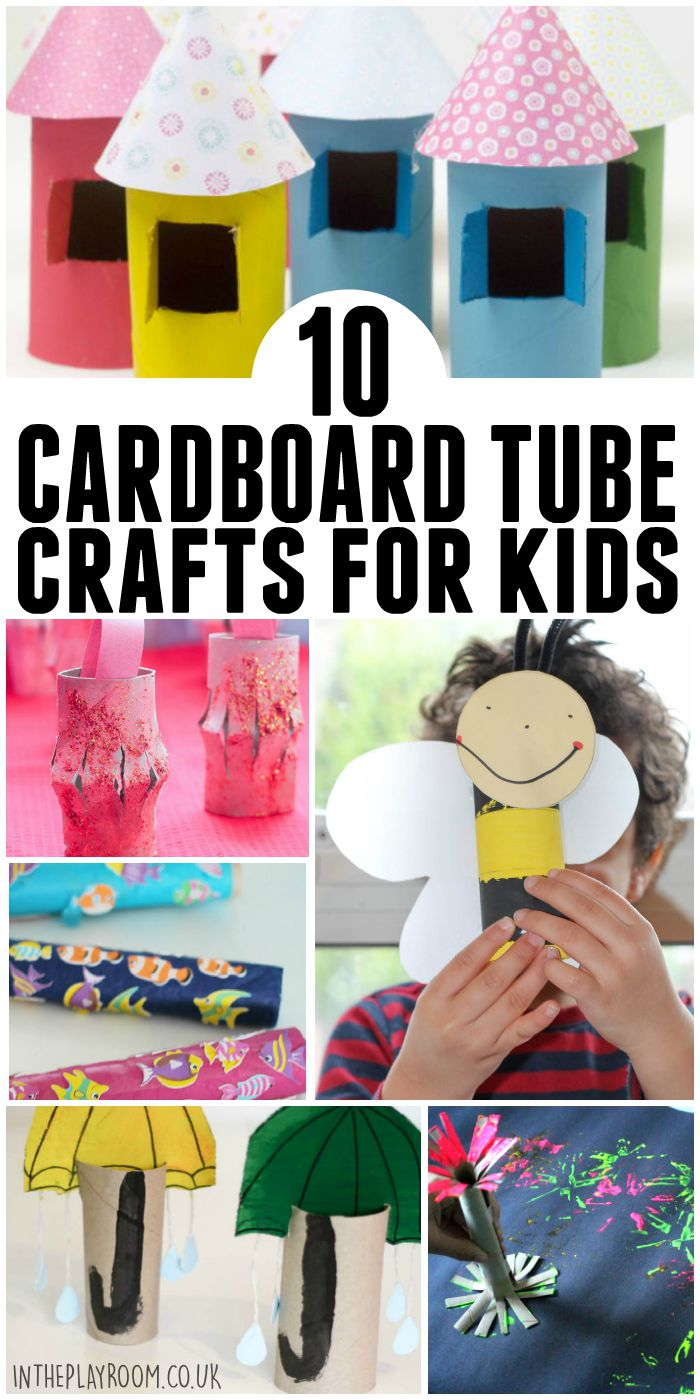 10 more cardboard tube crafts for kids. Fun ideas to make with left over cardboard tubes and toilet rolls / tp rolls