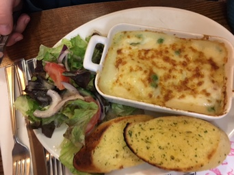 fish pie at brewer's fayre