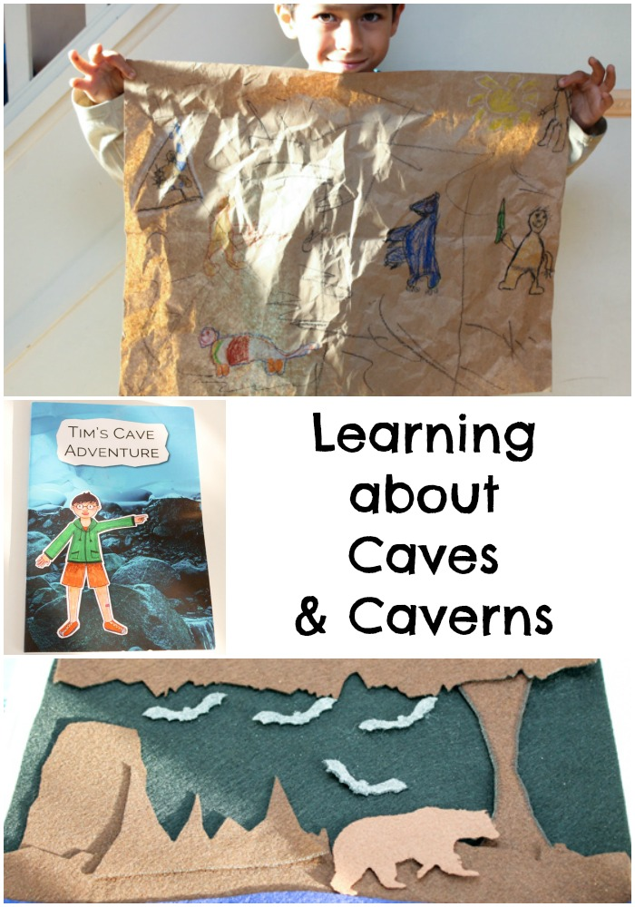 Learning about caves and caverns with fun montessori based activities for kids