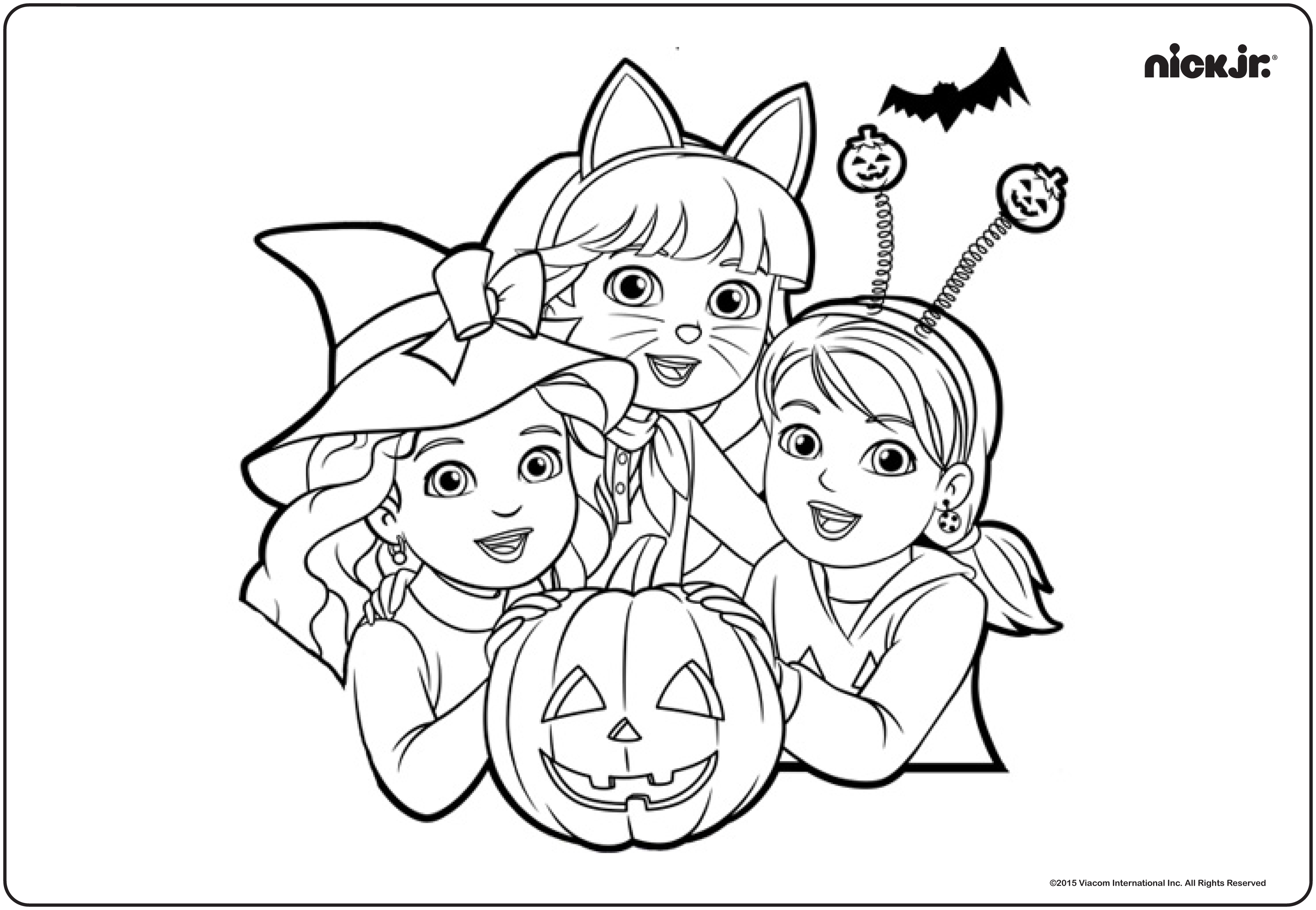 nick jr coloring pages halloween - photo#3
